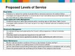 proposed levels of service2