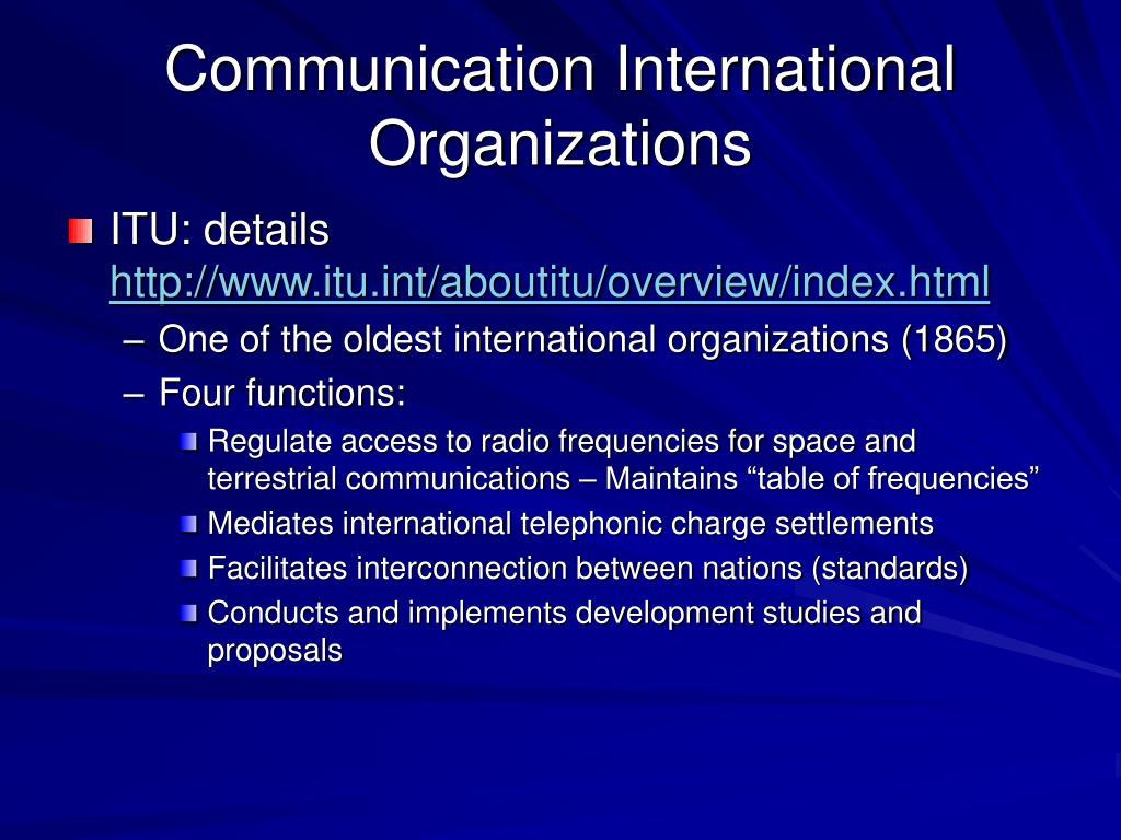 Communication International Organizations