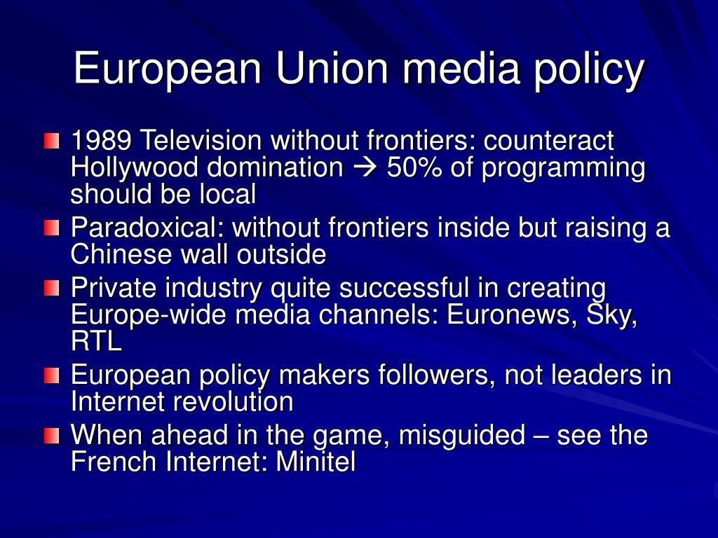 European Union media policy