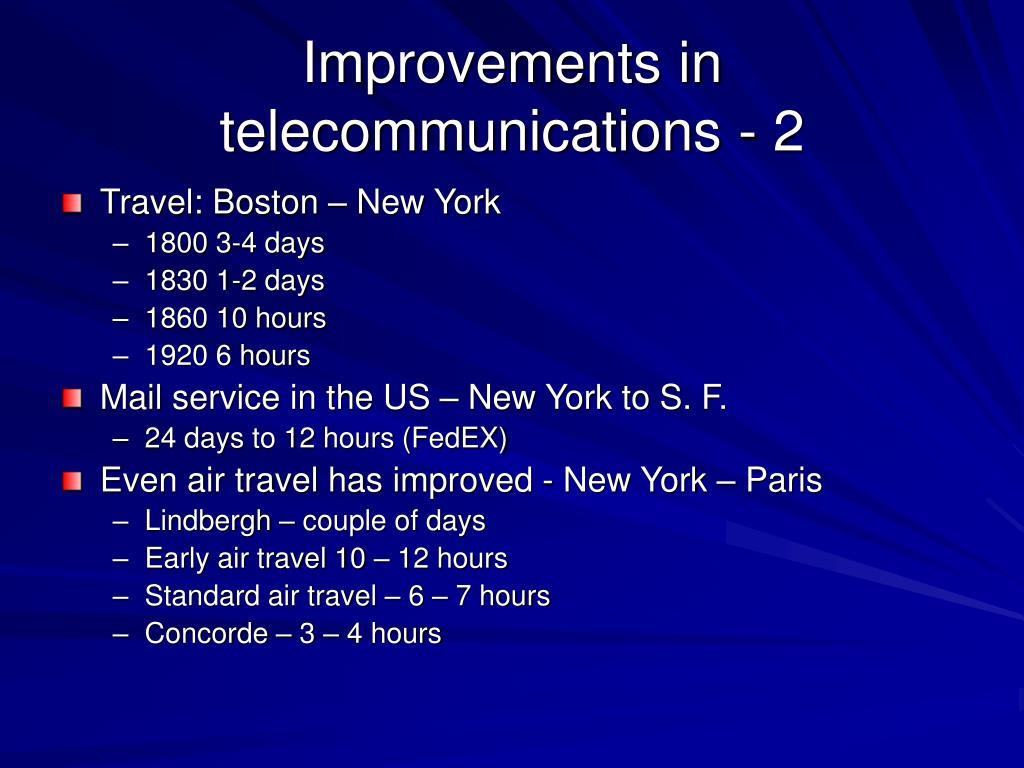 Improvements in telecommunications - 2
