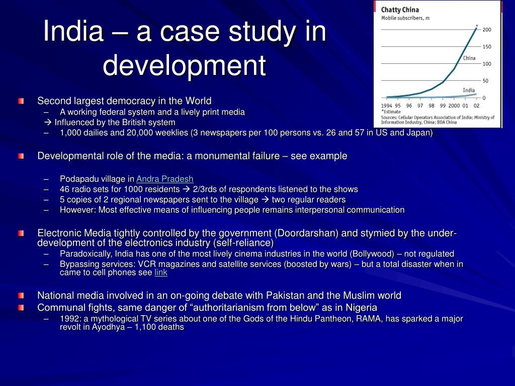 India – a case study in development