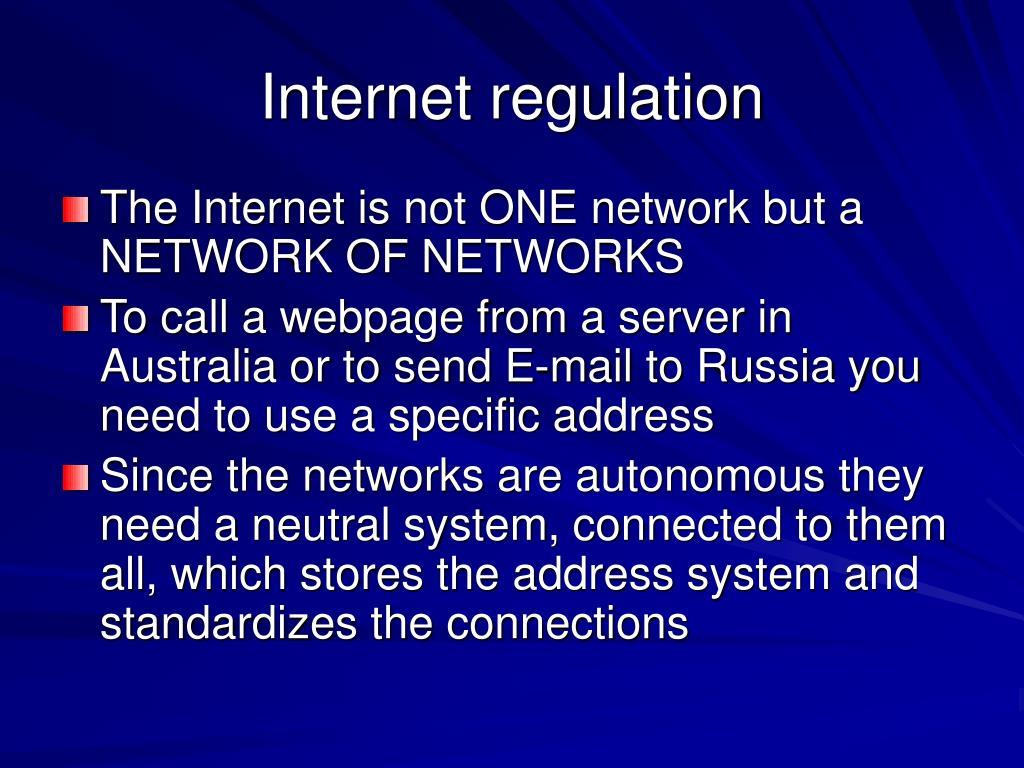 Internet regulation