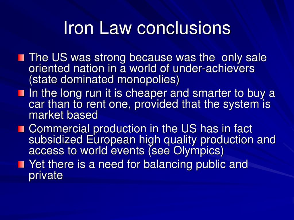 Iron Law conclusions