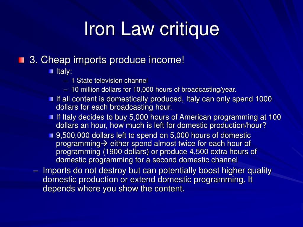 Iron Law critique