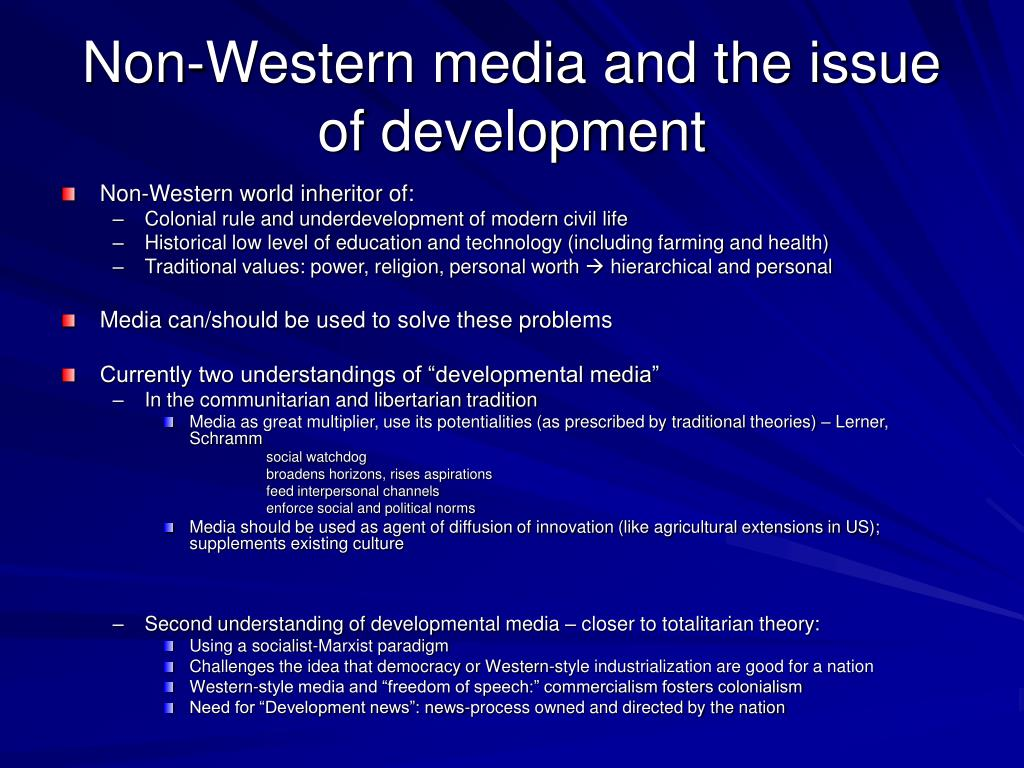 Non-Western media and the issue of development