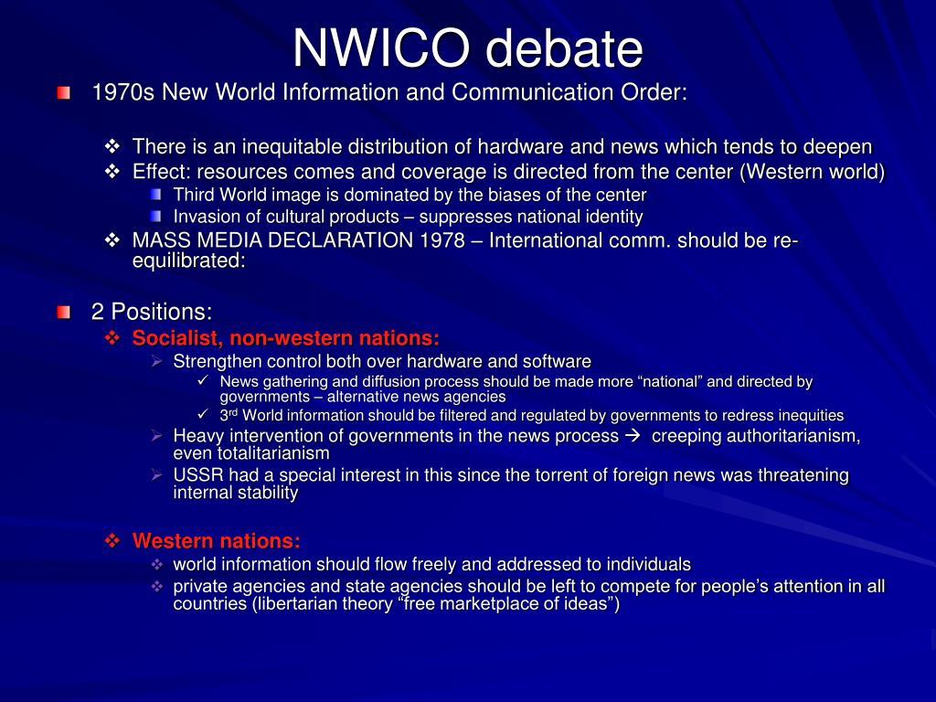 NWICO debate
