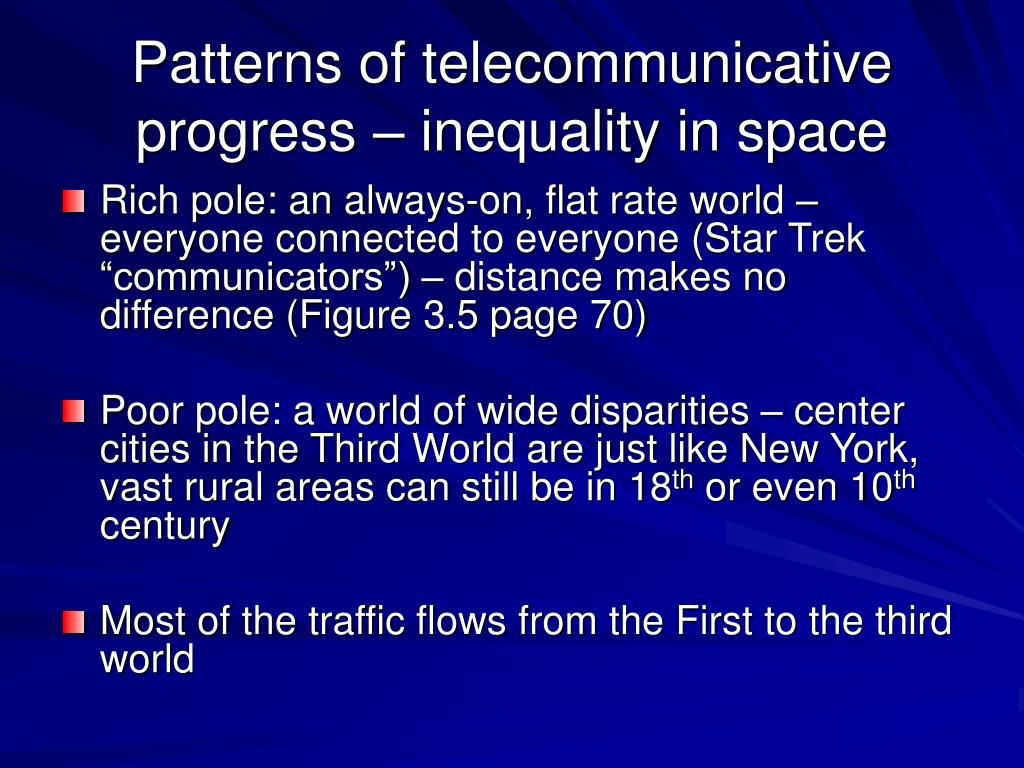 Patterns of telecommunicative progress – inequality in space