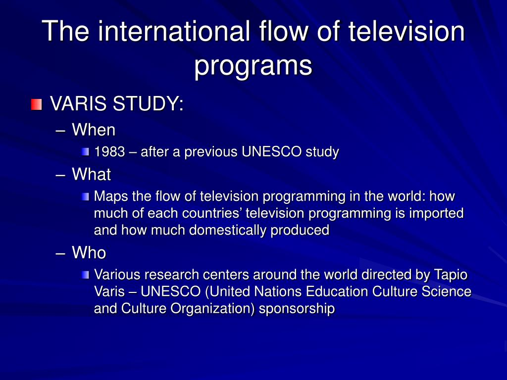 The international flow of television programs
