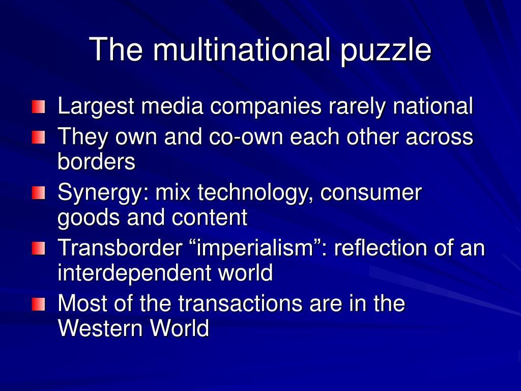 The multinational puzzle