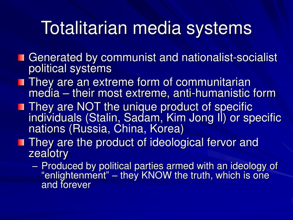 Totalitarian media systems