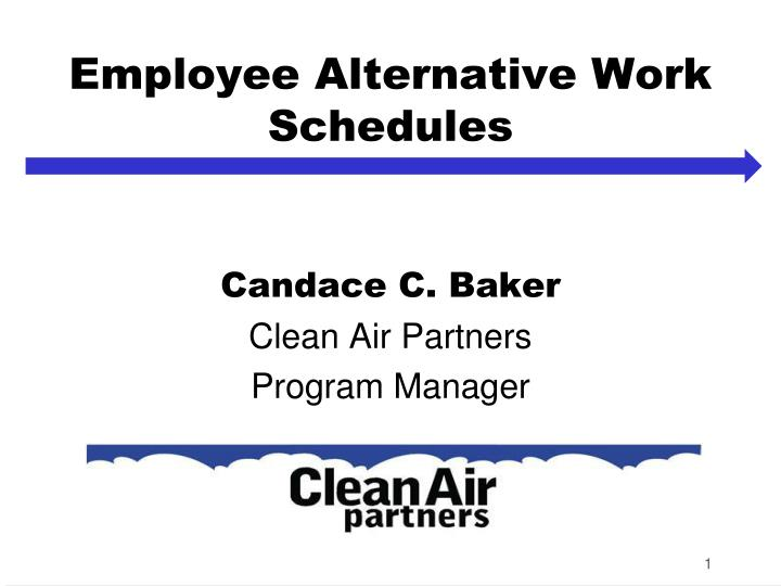 employee alternative work schedules n.