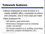 telework features