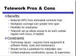 telework pros cons