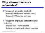 why alternative work schedules