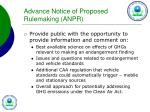 advance notice of proposed rulemaking anpr