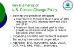key elements of u s climate change policy