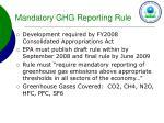 mandatory ghg reporting rule