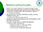 melissa s parting thoughts