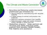 the climate and waste connection
