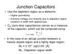 junction capacitors