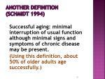 another definition schmidt 1994