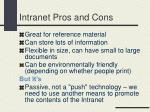 intranet pros and cons
