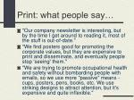 print what people say