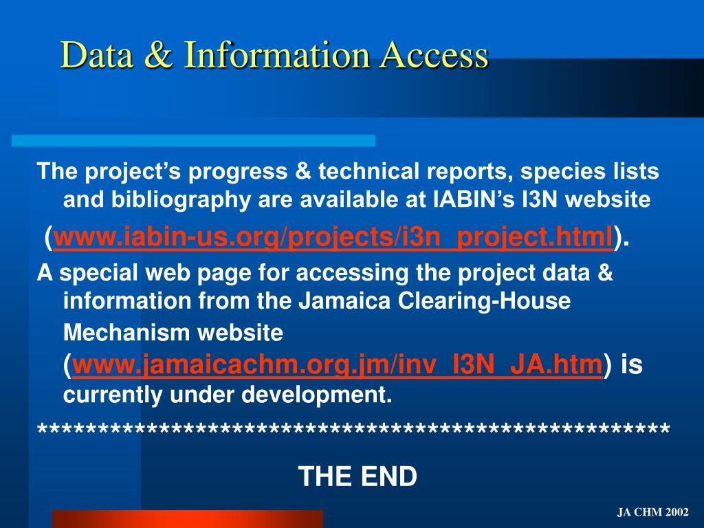 Data & Information Access
