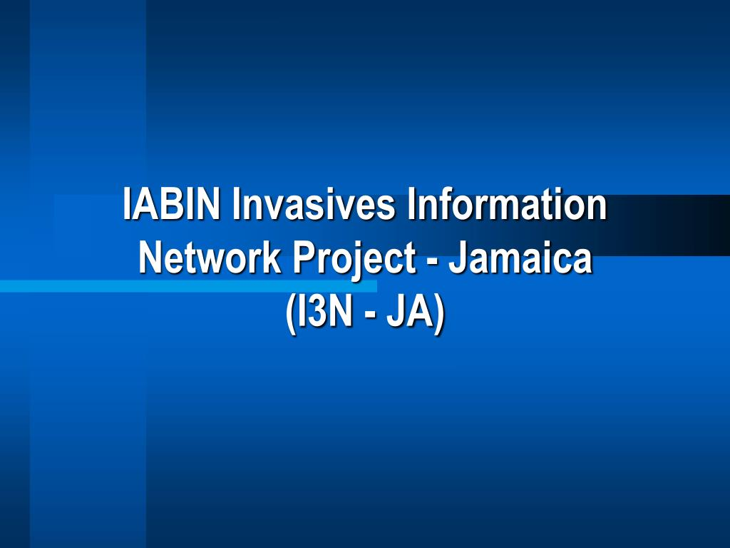 iabin invasives information network project jamaica i3n ja l.