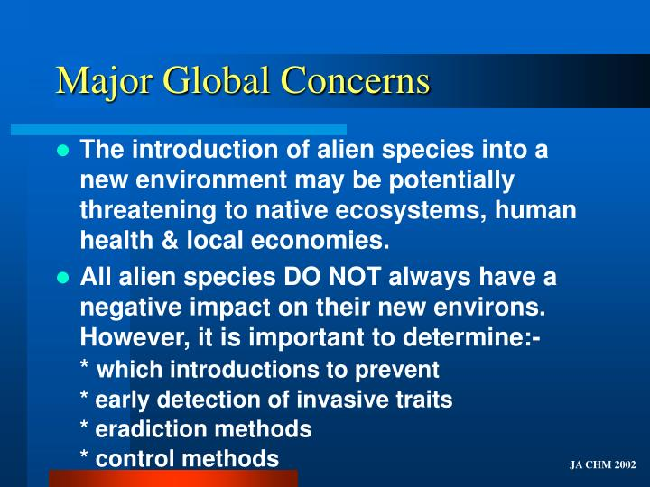 Major global concerns