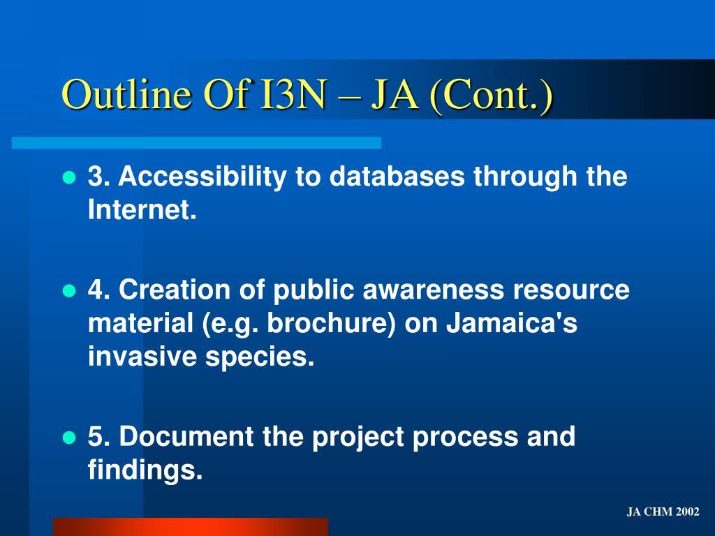 Outline Of I3N – JA (Cont.)