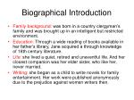 biographical introduction