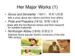 her major works 1
