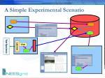 a simple experimental scenario