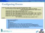 configuring events