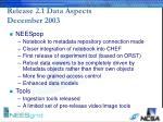 release 2 1 data aspects december 2003