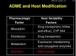 adme and host modification3