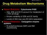 drug metabolism mechanisms4