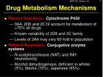 drug metabolism mechanisms5