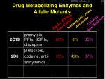 drug metabolizing enzymes and allelic mutants1