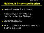 nelfinavir pharmacokinetics