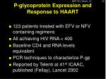 p glycoprotein expression and response to haart