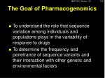 the goal of pharmacogenomics1