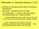 deliverable 1 business glossary 1 of 2