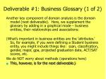 deliverable 1 business glossary 1 of 21