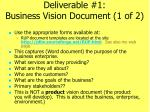 deliverable 1 business vision document 1 of 2