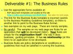 deliverable 1 the business rules