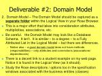 deliverable 2 domain model