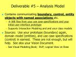 deliverable 5 analysis model
