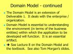 domain model continued